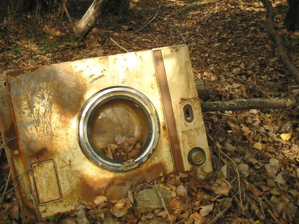 Lavadora oxidada